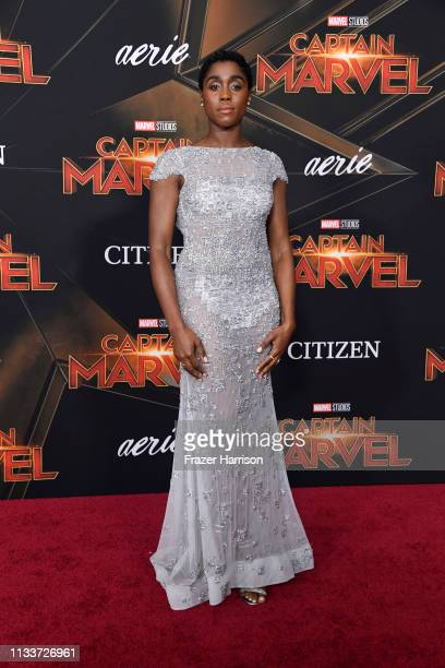 Lashana Lynch attends Marvel Studios Captain Marvel Premiere on March 04 2019 in Hollywood California