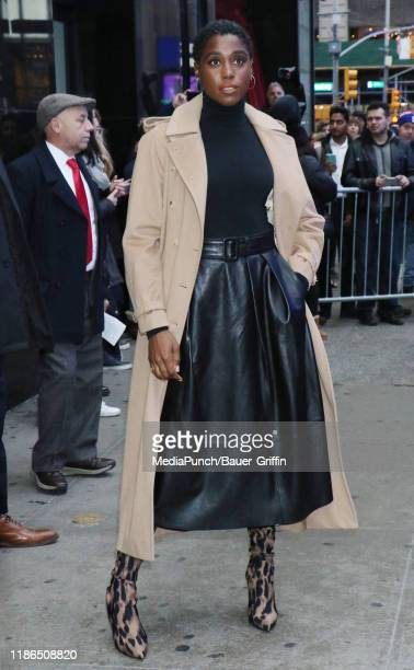 Lashana Lynch is seen on December 04 2019 in New York City