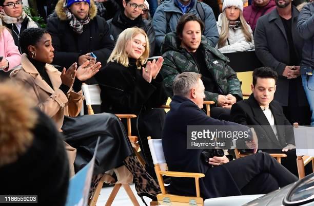 Lashana Lynch Lea Seydoux Billy Magnussen Daniel Craig and Rami Malek are seen outside Good Morning America on December 4 2019 in New York City
