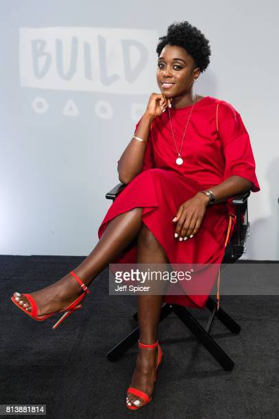 Lashana Lynch speaks during a BUILD event at AOL London on July 13 2017 in London England