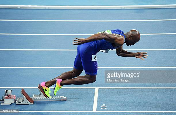 Lashawn Merritt of the United States competes in the Men's 400m Semi Final on Day 8 of the Rio 2016 Olympic Games at the Olympic Stadium on August 13...