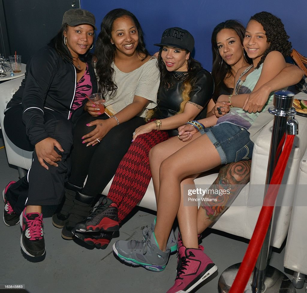Lashon Dixon, Guest, Tameka 'Tiny' Harris, Ms Niko and Deyjah Harris attend Domani Harris's Domani Harris's birthday celebration at Indigo on March 16, 2013 in Toronto, Canada.