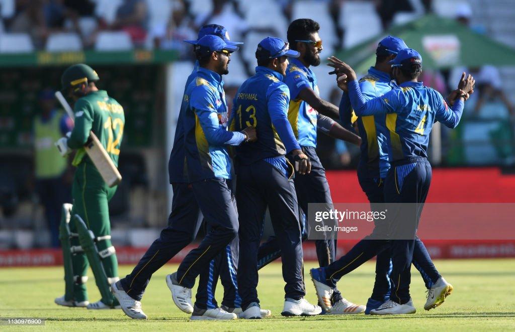 South Africa v Sri Lanka- One Day International : News Photo