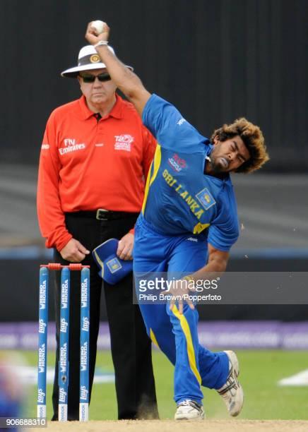 Lasith Malinga bowling for Sri Lanka during the ICC World Twenty20 Super Eight match between New Zealand and Sri Lanka at Trent Bridge Nottingham...