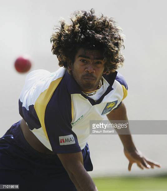Lasith Malinga of Sri Lanka bowls during Sri Lanka net practice at the Edgbaston Cricket Ground on May 23 2006 in Birmingham England