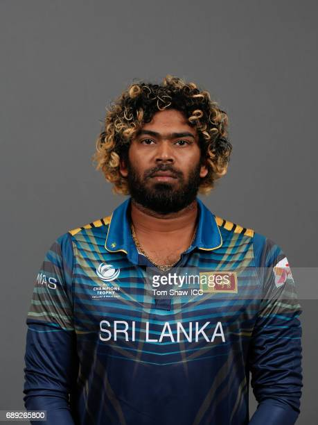 Lasith Malinga of Sri Lanka poses for a picture during the Sri Lanka Portrait Session for the ICC Champions Trophy at Grand Hyatt on May 27 2017 in...
