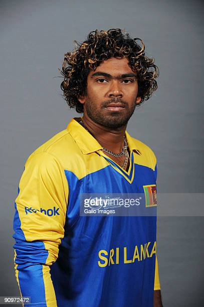 Lasith Malinga poses during the ICC Champions photocall session of Sri Lanka at Sandton Sun on September 19 2009 in Sandton South Africa