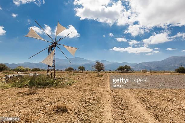 lassithi mulino a vento, creta - altopiano foto e immagini stock