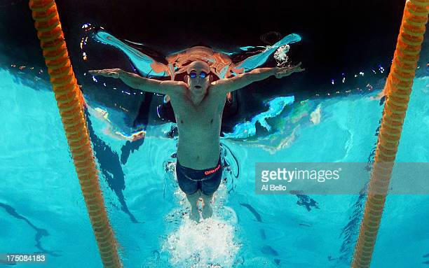 Laslo Cseh of Hungary competes during the Swimming Men's 200m Individual Medley heat 3 on day twelve of the 15th FINA World Championships at Palau...