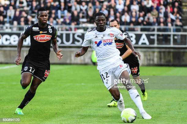 Lassana COulibaly of Angers and Bakaye Dibassy of Amiens during the Ligue 1 match between Amiens SC and Angers SCO at Stade de la Licorne on August...