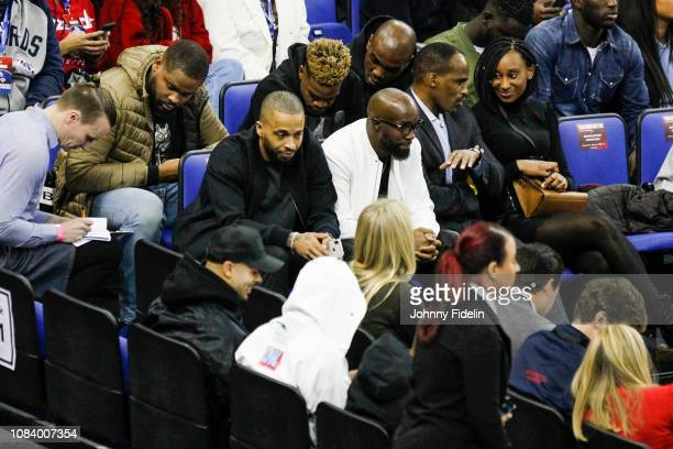 Lassana Diarra former player of Paris Saint Germain during the NBA game against Washington Wizards and New York Knicks at The O2 Arena on January 17...