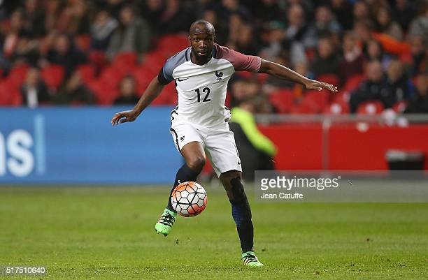Lassana Diarra of France in action during the international friendly match between Netherlands and France at the Amsterdam Arena on March 25 2016 in...