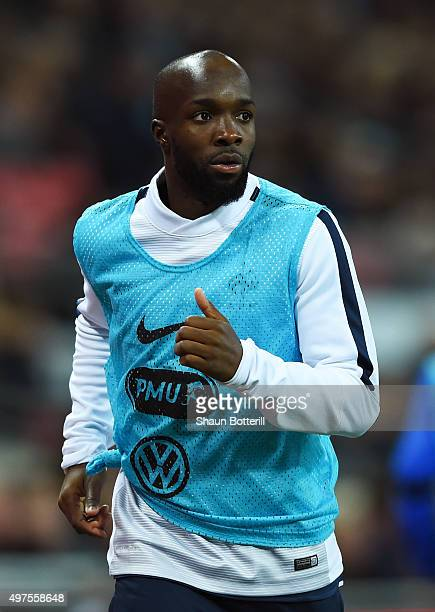 Lassana Diarra of France warms up during the International Friendly match between England and France at Wembley Stadium on November 17 2015 in London...