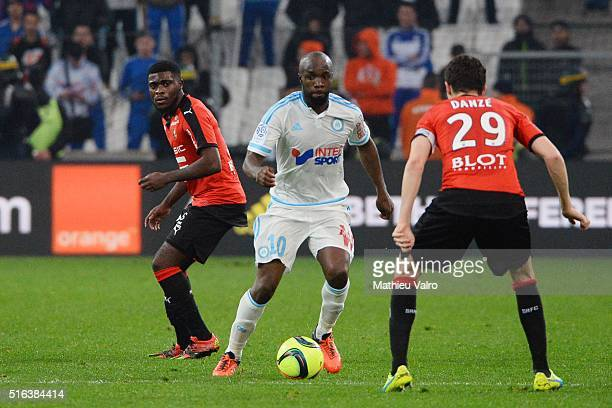 Lassana DIARRA of Marseille during the French Ligue 1 match between Olympique de Marseille v Stade Rennes at Stade Velodrome on March 18 2016 in...