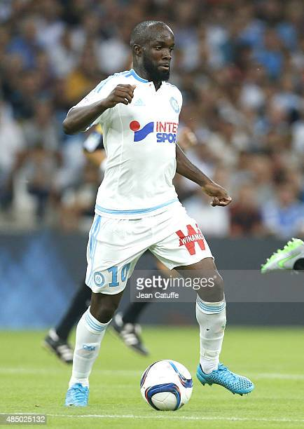 Lassana Diarra of OM in action during the French Ligue 1 match between Olympique de Marseille and Troyes ESTAC at New Stade Velodrome on August 23...