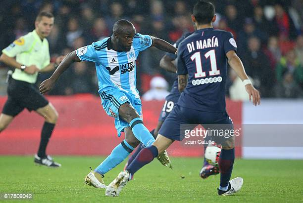 Lassana Diarra of OM in action during the French Ligue 1 match between Paris SaintGermain PSG and Olympique de Marseille at Parc des Princes stadium...
