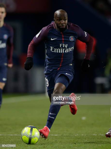 Lassana Diarra of Paris Saint Germain during the French League 1 match between Paris Saint Germain v Olympique Marseille at the Parc des Princes on...