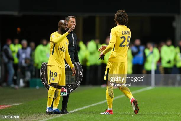 Lassana Diarra of Paris Saint Germain during the League Cup semi final match between Rennes and Paris Saint Germain PSG at Roazhon Park on January 30...