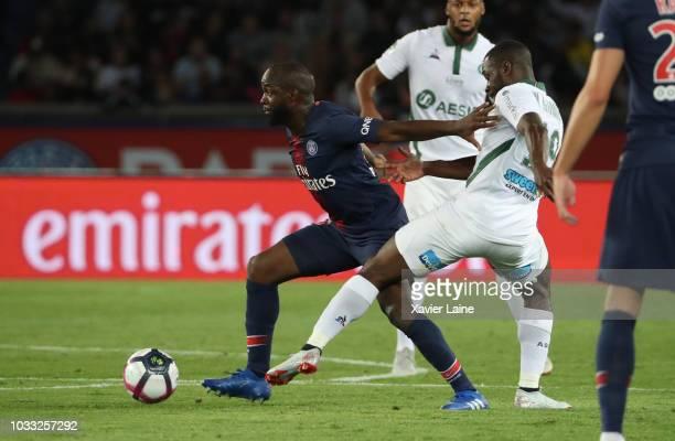 Lassana Diarra of Paris SaintGermain in action during the French Ligue 1 match between Paris Saint Germain and AS Saint Etienne on September 14 2018...