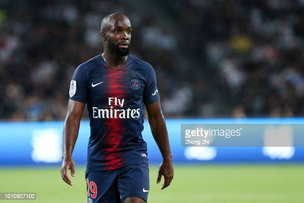 Lassana Diarra of Paris Saint-Germain in action during the French Trophy of Champions football match between AS Monaco and Paris Saint-Germain at...