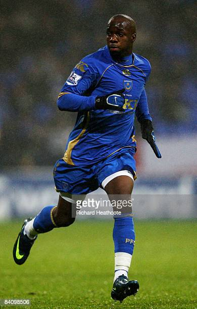Lassana Diarra of Pompey in action during the Barclays Premier League match between Bolton Wanderers and Portsmouth at the Reebok Stadium on December...