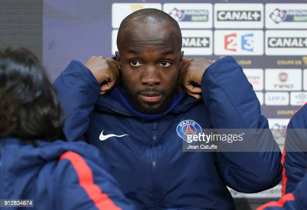 Lassana Diarra of PSG during the French League Cup match between Stade Rennais and Paris Saint Germain at Roazhon Park on January 30 2018 in Rennes...
