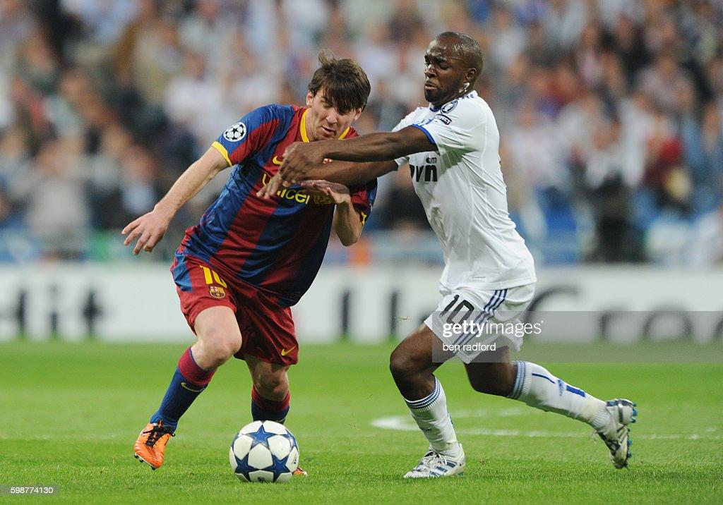 Soccer - UEFA Champions League - Real Madrid vs. Barcelona : Foto di attualità