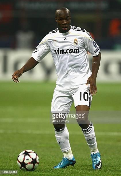 Lassana Diarra of Real Madrid during the UEFA Champions League Group C match between AC Milan and Real Madrid at the San Siro on November 3 2009 in...