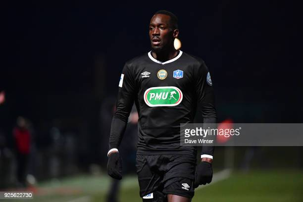 Lassana Doucoure of Chambly during the French Cup match between Chambly and Strasbourg at Stade Pierre Brisson on February 28 2018 in Beauvais France