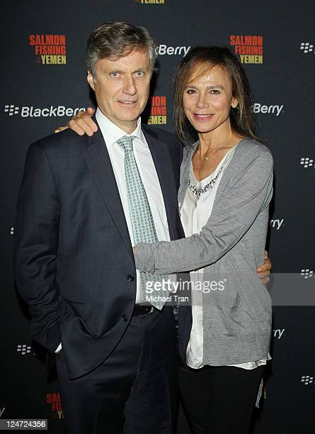 Lasse Hallstršm and Lena Olin arrive at the Salmon Fishing In The Yemen afterparty held during the 2011 Toronto International Film Festival held at...