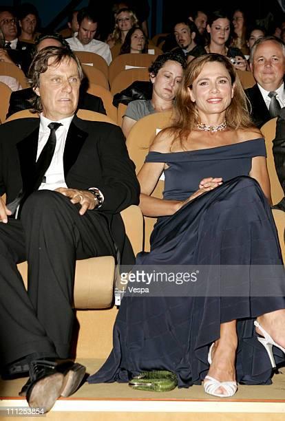 Lasse Hallstrom and Lena Olin during 2005 Venice Film Festival Casanova Premiere Inside at Palazzo del Cinema in Venice Lido Italy