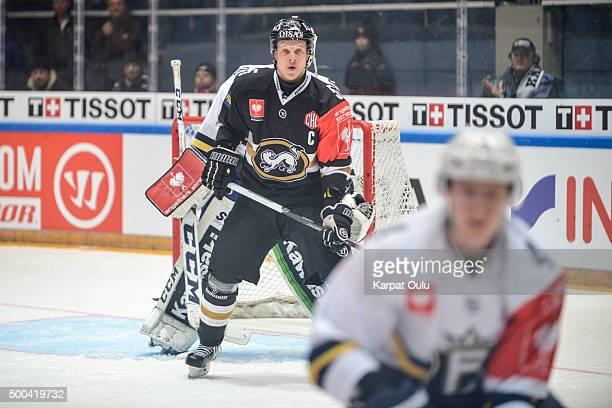 Lasse Kukkonen of Karpat Oulu during the Champions Hockey League quarter final between Karpat Oulu and Espoo Blues at Oulun Energia-Areena on...