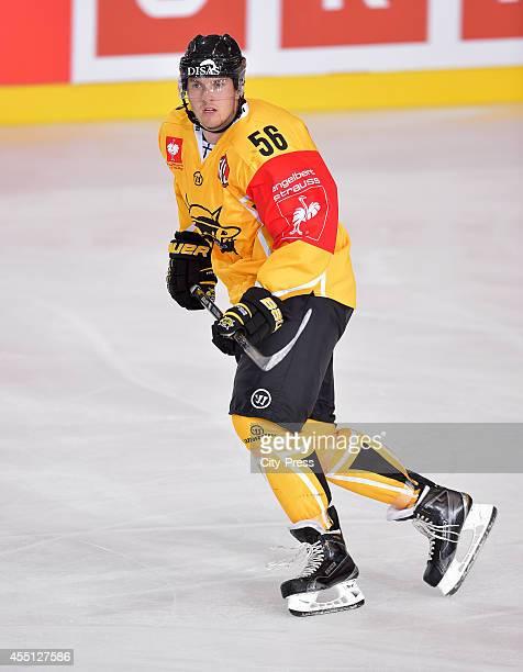 Lasse Lappalainen of SaiPa Lappeenranta during the Champions Hockey League game between ERC Ingolstadt and SaiPa Lappeenranta on august 23, 2014 in...