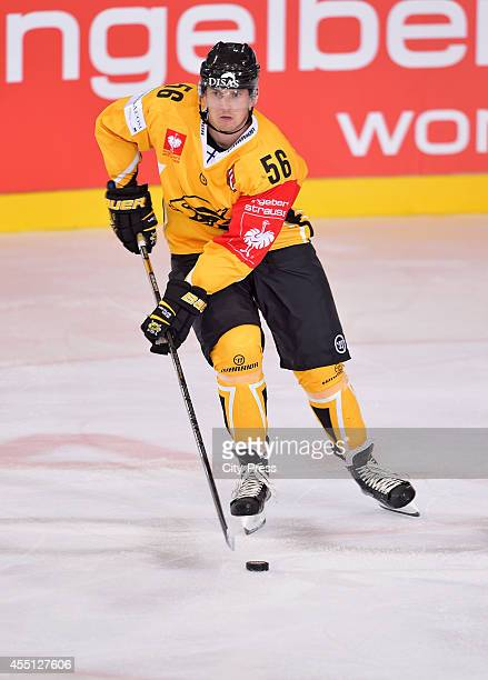Lasse Lappalainen of SaiPa Lappeenranta in action during the Champions Hockey League game between ERC Ingolstadt and SaiPa Lappeenranta on august 23,...