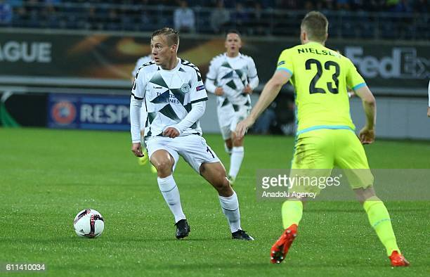 Lasse Nielsen of Gent in action during the UEFA Europa League Group H football match between Gent and Atiker Konyaspor at the Ghelamco Arena in Gent,...