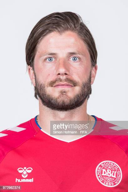 Lasse Schoene of Denmark poses during official FIFA World Cup 2018 portrait session on June 12 2018 in Anapa Russia