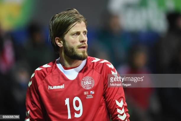 Lasse Schone looks on during the International Friendly match between Denmark and Panama at Brondby Stadion on March 22 2018 in Brondby Denmark