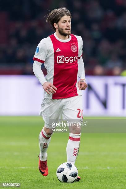 Lasse Schone of Ajax during the Dutch Eredivisie match between Ajax Amsterdam and Willem II Tilburg at the Amsterdam Arena on December 24 2017 in...