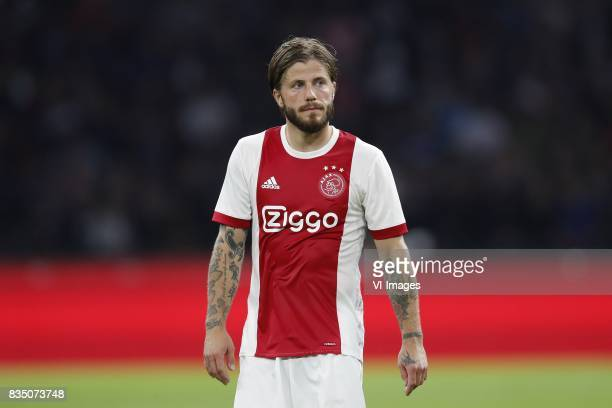 Lasse Schone of Ajax during the UEFA Europa League fourth round qualifying first leg match between Ajax Amsterdam and RosenBorg BK at the Amsterdam...