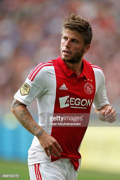 Lasse Schone of Ajax in action during the 19th Johan Cruijff Shield match between Ajax Amsterdam and PEC Zwolle at the Amsterdam ArenA on August 3...