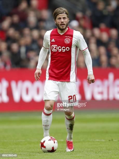 Lasse Schone of Ajaxduring the Dutch Eredivisie match between Ajax Amsterdam and sc Heerenveen at the Amsterdam Arena on April 16 2017 in Amsterdam...