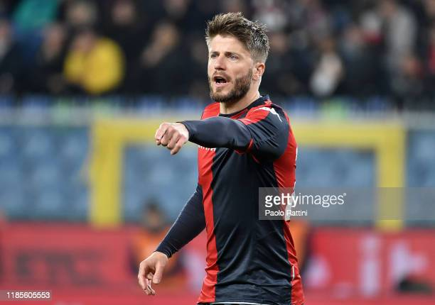 Lasse Schone of Genoa CFC reacts during the Serie A match between Genoa CFC and Torino FC at Stadio Luigi Ferraris on November 30 2019 in Genoa Italy