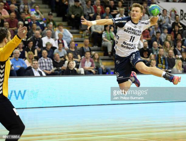 Lasse Svan of SG FlensburgHandewitt in action during the game between Fuechse Berlin against SG FlensburgHandewitt on february 1 2017 in Berlin...