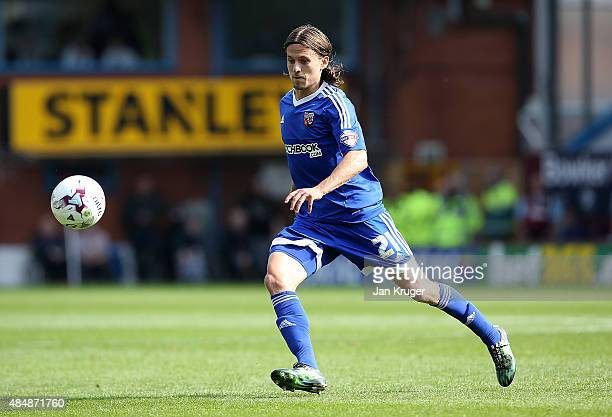 Lasse Vibe of Brentford during the Sky Bet Championship match between Burnley and Brentford at Turf Moor on August 22 2015 in Burnley England