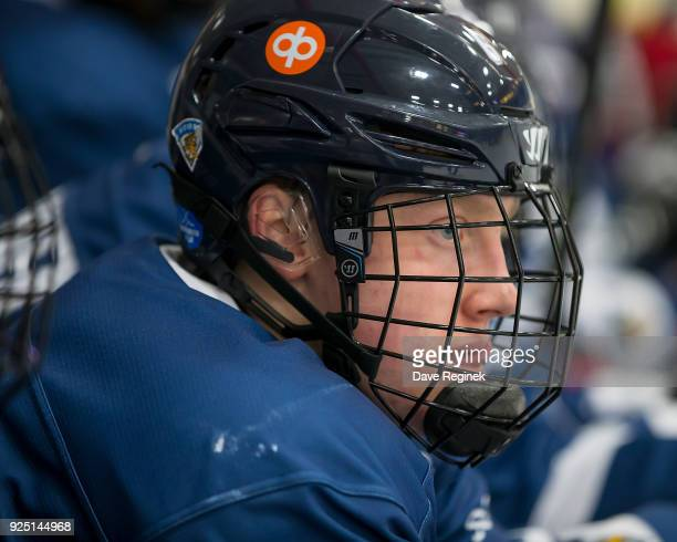 Lassi Thomson of the Finland Nationals watches the action from the bench against the Russian Nationals during the 2018 Under18 Five Nations...