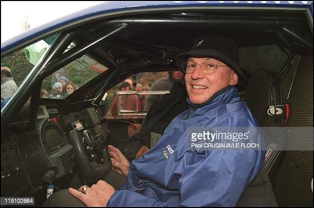 Last check out before the Dakar car rally starts on Friday night in Arras France on December 27 2001 JeanLouis Schlesser