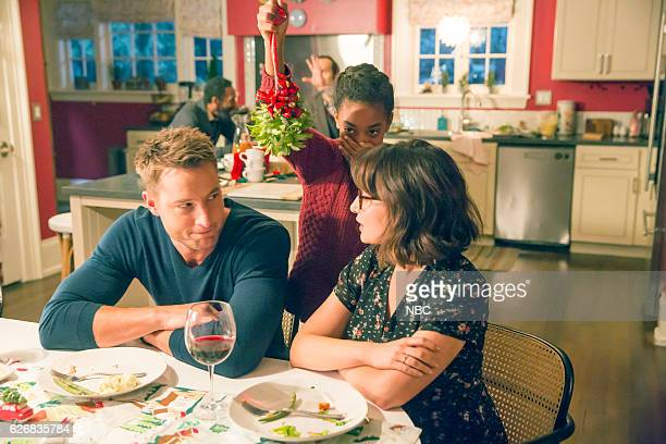 US Last Christmas Episode 110 Pictured Justin Hartley as Kevin Eris Baker as Tess Milana Vayntrub as Sloane