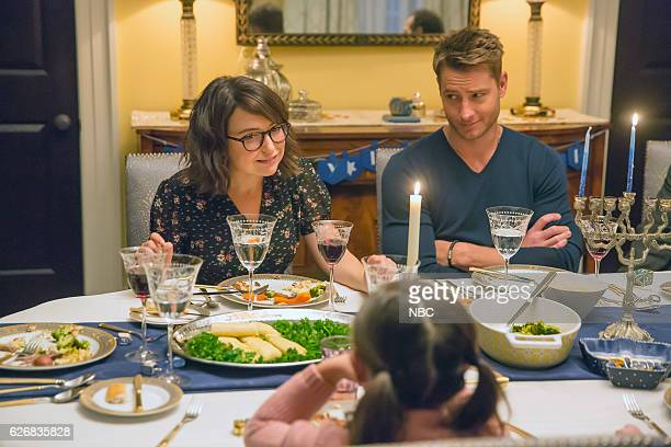 US 'Last Christmas' Episode 110 Pictured Milana Vayntrub as Sloane Justin Hartley as Kevin