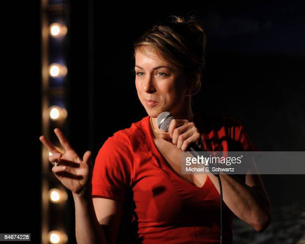 Last Comic Standing winner comedian Iliza Shlesinger performs at The Ice House on February 5 2009 in Pasadena California