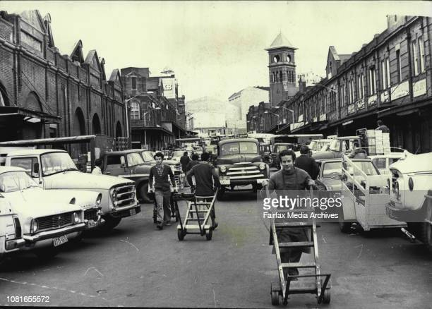 Last day trading at the Haymarket Produce markets On Monday the markets start trading at FlemingtonQuay street looking South on the last day of...